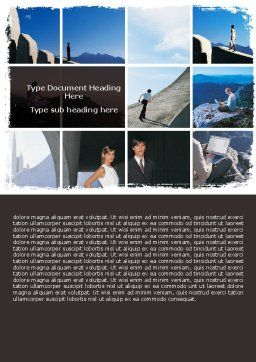 Business Climbing Lifestyle Word Template, Cover Page, 06316, Business — PoweredTemplate.com
