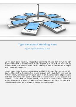 Wi-Fi Point Word Template, Cover Page, 06317, Telecommunication — PoweredTemplate.com