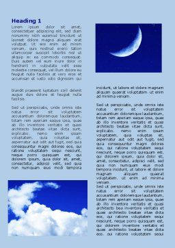 New Moon Word Template First Inner Page