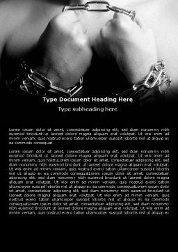 Chained Man Word Template, Cover Page, 06319, Consulting — PoweredTemplate.com