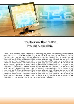 Computer Media Word Template, Cover Page, 06320, Technology, Science & Computers — PoweredTemplate.com