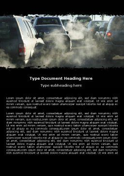Exhaust Fumes Word Template, Cover Page, 06321, Cars/Transportation — PoweredTemplate.com