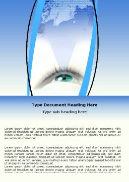 Digital Eye Word Template, Cover Page, 06323, Business Concepts — PoweredTemplate.com