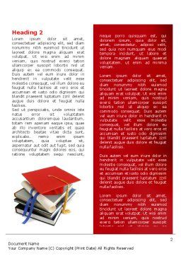 Higher Education Word Template First Inner Page