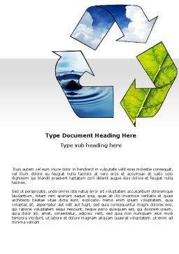Recycle Word Template, Cover Page, 06325, Nature & Environment — PoweredTemplate.com