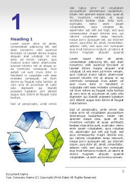 Recycle Word Template, First Inner Page, 06325, Nature & Environment — PoweredTemplate.com