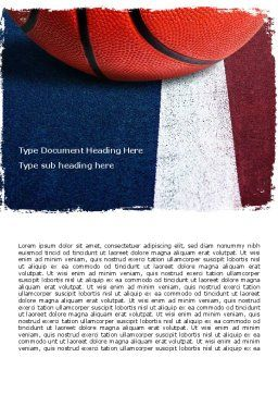 Basketball Ball Word Template, Cover Page, 06326, Sports — PoweredTemplate.com