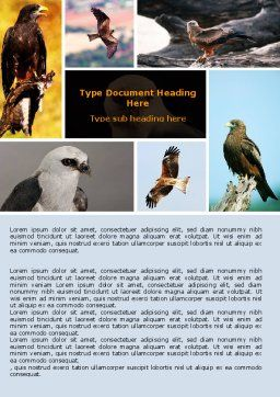 Bird Of Prey Word Template, Cover Page, 06331, Agriculture and Animals — PoweredTemplate.com