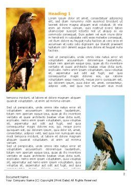 Bird Of Prey Word Template, First Inner Page, 06331, Agriculture and Animals — PoweredTemplate.com