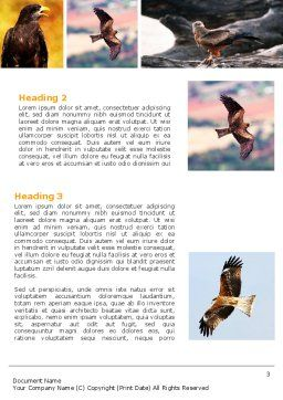 Bird Of Prey Word Template, Second Inner Page, 06331, Agriculture and Animals — PoweredTemplate.com