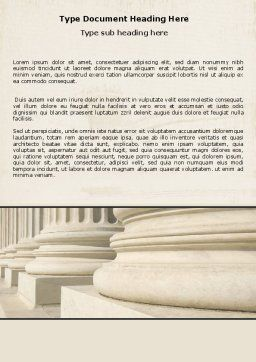 Doric Columns Word Template, Cover Page, 06332, Construction — PoweredTemplate.com