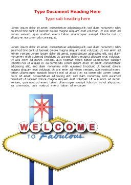 Welcoming Billboard Word Template Cover Page