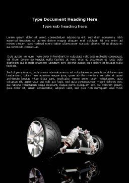 Front Suspension Design Word Template, Cover Page, 06336, Construction — PoweredTemplate.com