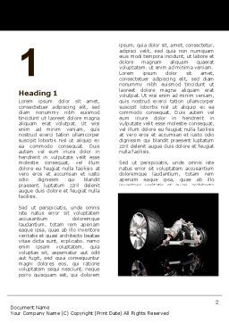 Front Suspension Design Word Template, First Inner Page, 06336, Construction — PoweredTemplate.com
