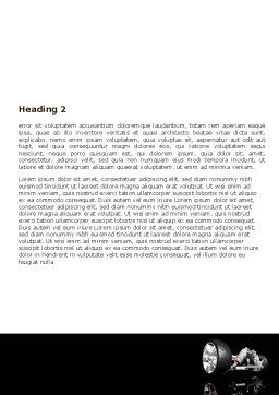Front Suspension Design Word Template, Second Inner Page, 06336, Construction — PoweredTemplate.com
