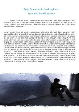 Lonely Man Word Template, Cover Page, 06338, People — PoweredTemplate.com
