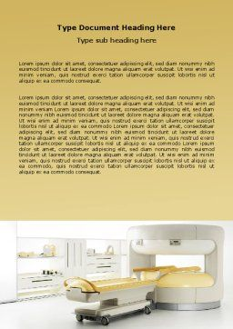 Tomograph Word Template, Cover Page, 06350, Medical — PoweredTemplate.com