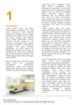 Tomograph Word Template, First Inner Page, 06350, Medical — PoweredTemplate.com