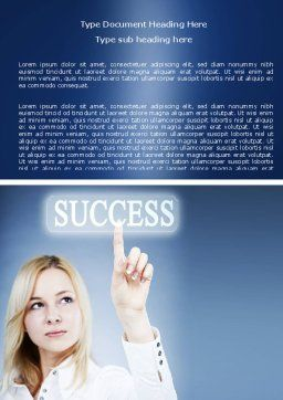 Reaching for Success Word Template, Cover Page, 06351, Business Concepts — PoweredTemplate.com