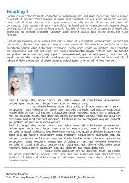 Reaching for Success Word Template, First Inner Page, 06351, Business Concepts — PoweredTemplate.com