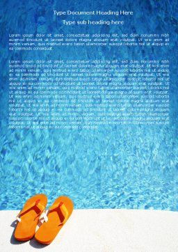 Slippers On A Pool Skirting Word Template, Cover Page, 06352, Careers/Industry — PoweredTemplate.com