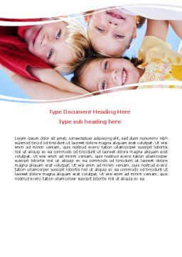 Kids Smiling Faces Word Template, Cover Page, 06353, Education & Training — PoweredTemplate.com