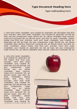 Book Knowledge Word Template, Cover Page, 06355, Education & Training — PoweredTemplate.com