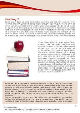 Book Knowledge Word Template, First Inner Page, 06355, Education & Training — PoweredTemplate.com