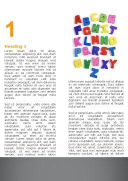 Childish Alphabet Word Template, First Inner Page, 06356, Education & Training — PoweredTemplate.com