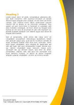 Childish Alphabet Word Template, Second Inner Page, 06356, Education & Training — PoweredTemplate.com