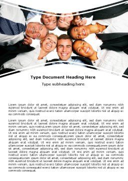 Co-workers Word Template, Cover Page, 06359, Business — PoweredTemplate.com