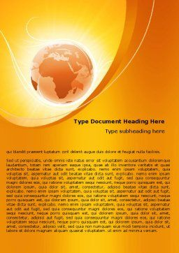 Yellow Earth Theme Word Template, Cover Page, 06361, Global — PoweredTemplate.com