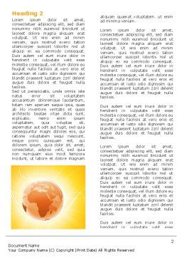 Yellow Earth Theme Word Template, First Inner Page, 06361, Global — PoweredTemplate.com