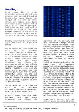 Blue Binary Code Word Template, First Inner Page, 06362, Technology, Science & Computers — PoweredTemplate.com