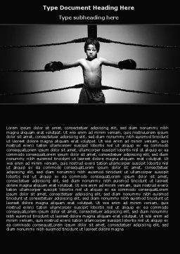 Young Boxer Word Template Cover Page