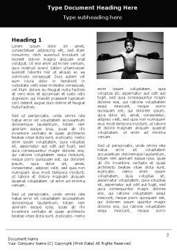 Young Boxer Word Template First Inner Page