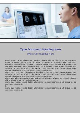 Tomography Research Word Template, Cover Page, 06364, Medical — PoweredTemplate.com