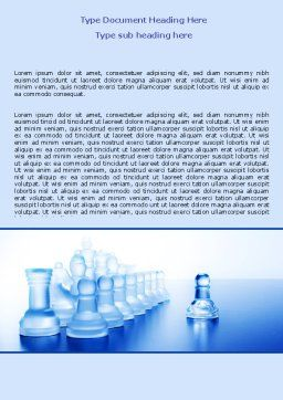 Glass Chess Word Template, Cover Page, 06365, Business Concepts — PoweredTemplate.com