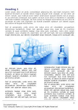 Glass Chess Word Template, First Inner Page, 06365, Business Concepts — PoweredTemplate.com