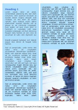 Special Care Nursery Word Template, First Inner Page, 06368, Medical — PoweredTemplate.com
