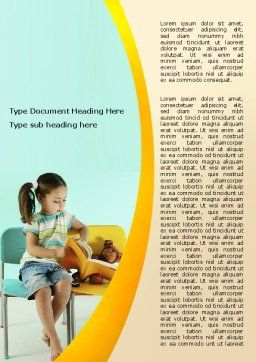 Girl Studying Word Template, Cover Page, 06376, Education & Training — PoweredTemplate.com