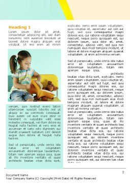 Girl Studying Word Template, First Inner Page, 06376, Education & Training — PoweredTemplate.com