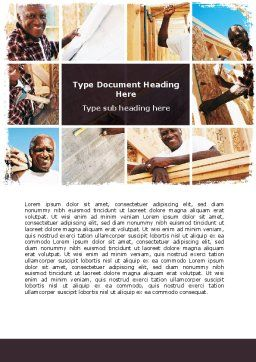 Do-It-Yourself House Word Template, Cover Page, 06379, Construction — PoweredTemplate.com