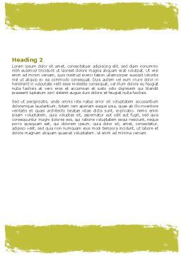 Free Microscopic Section Word Template Second Inner Page
