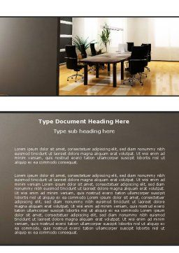 Company Conference Hall Word Template, Cover Page, 06386, Business — PoweredTemplate.com