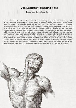 Body Muscles Word Template, Cover Page, 06387, Medical — PoweredTemplate.com