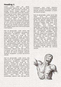 Body Muscles Word Template, First Inner Page, 06387, Medical — PoweredTemplate.com