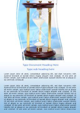 Ancient Hourglass Word Template, Cover Page, 06392, Consulting — PoweredTemplate.com