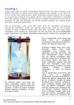 Ancient Hourglass Word Template, First Inner Page, 06392, Consulting — PoweredTemplate.com