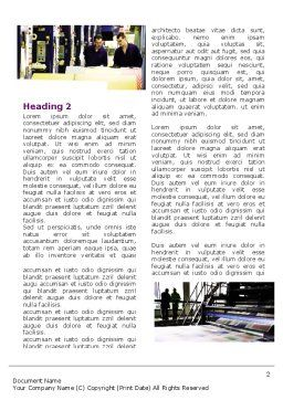 Newspaper Printing Word Template First Inner Page
